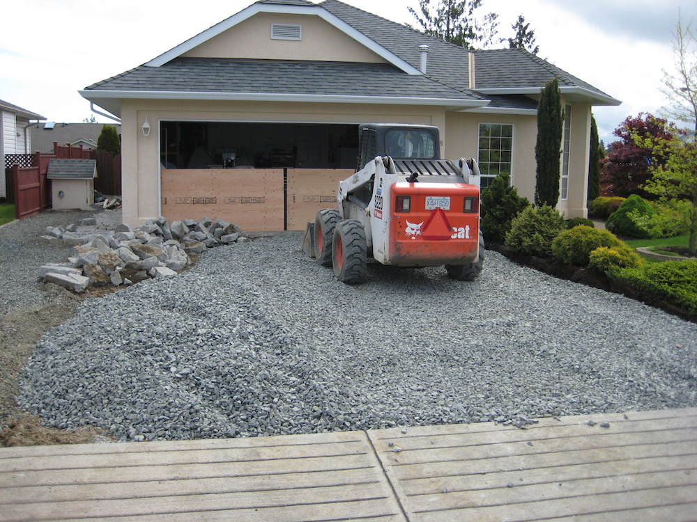 how to build a concrete driveway on a slope
